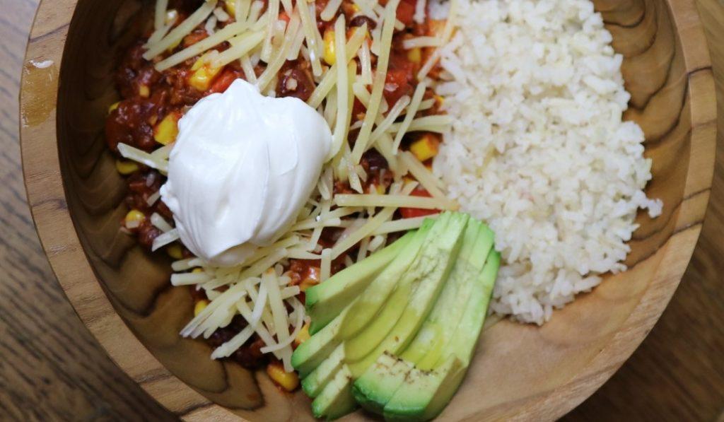 Vegetarische chili sin carne