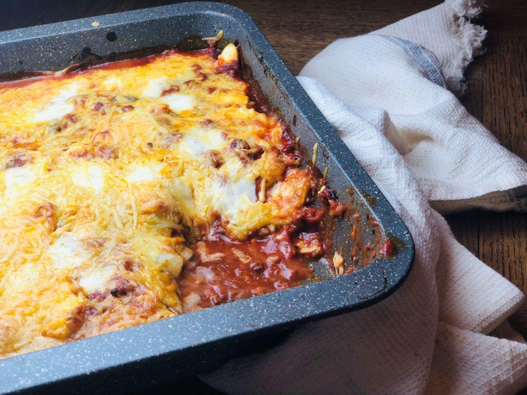 Lasagne van zoete aardappel en ei