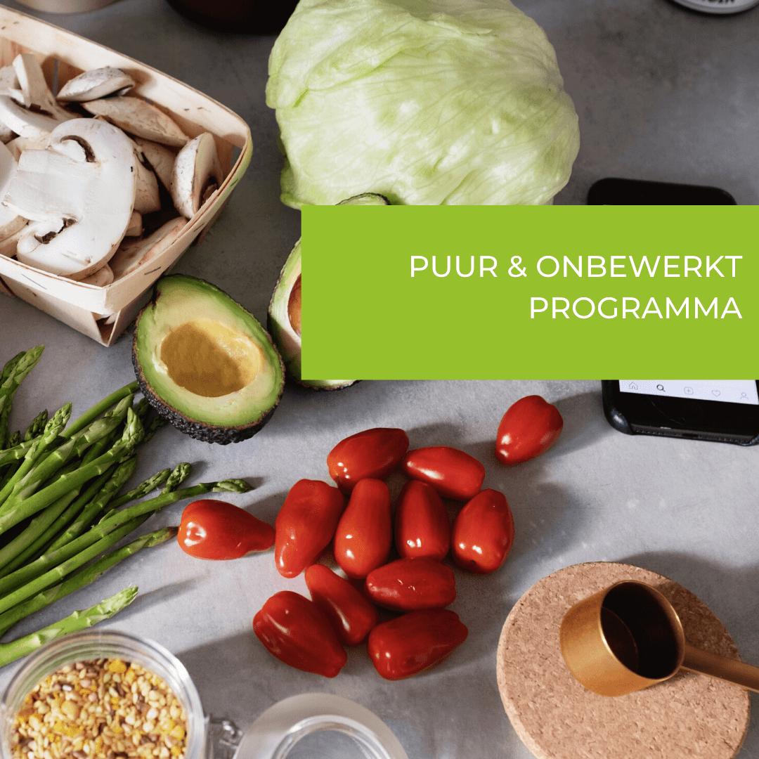 gezond voedingsschema voor afvallen