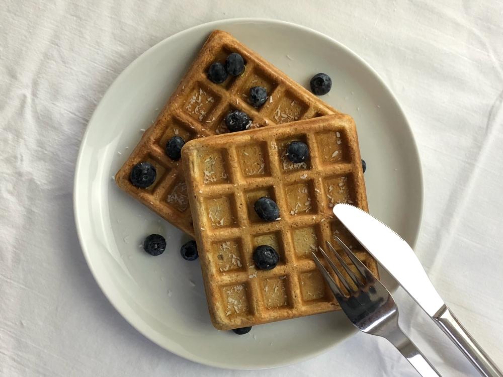 Wafels voor het ontbijt